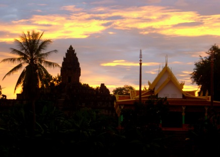 Sunset at the temples